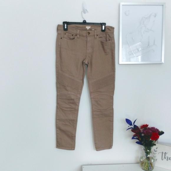 J. Crew Size 27 Tan Skinny Jeans